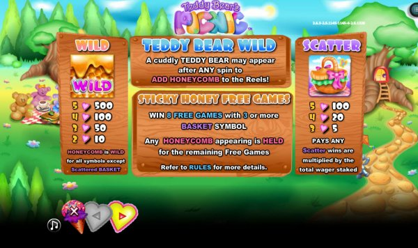 Teddy Bears Picnic™ Slot Machine Game to Play Free in NextGen Gamings Online Casinos