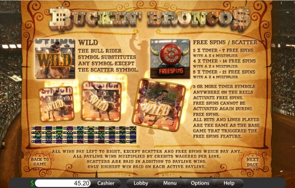 Buckin Broncos Slot - Play Online for Free Now