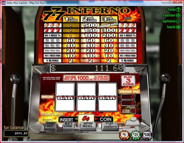 Screenshot of 777 Inferno Slots by RealTime Gaming