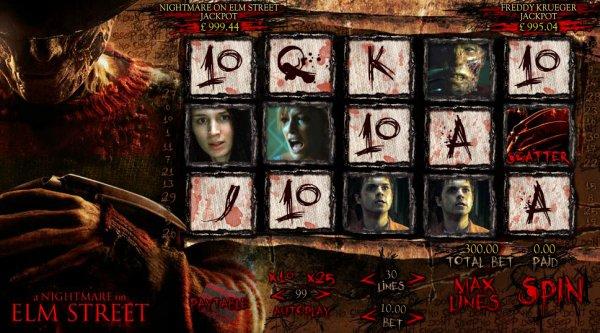 A Nightmare On Elm Street slot - prøv gratis online