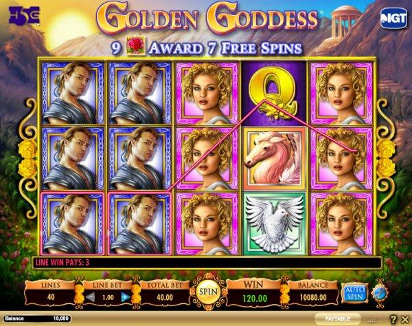 golden goddess casino game