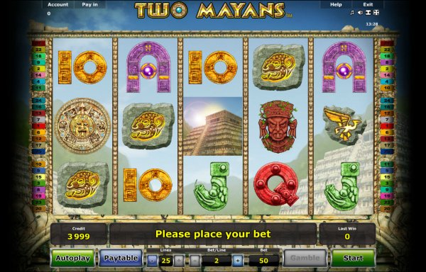 Two Mayans Slot - Play Novomatic Casino Games Online