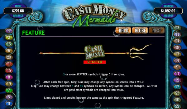 Cash Money Mermaids Slot - Review and Free Online Game