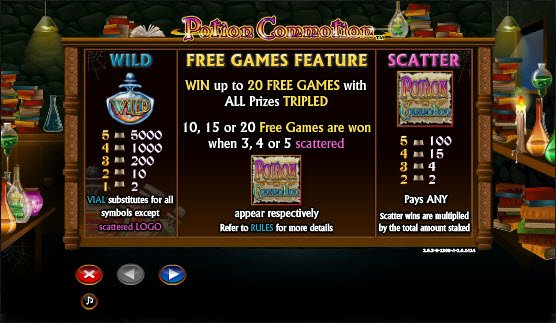 Potion Commotion™ Slot Machine Game to Play Free in NextGen Gamings Online Casinos
