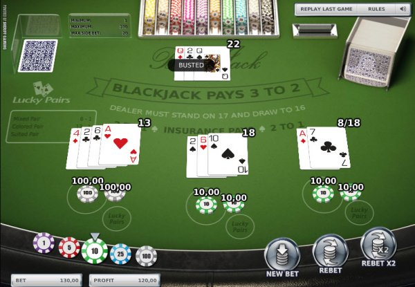Blackjack barred