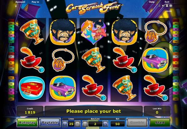 Movie cat scratch fever novomatic slot game easy players logo