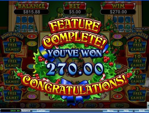 Santastic Slot Game Win