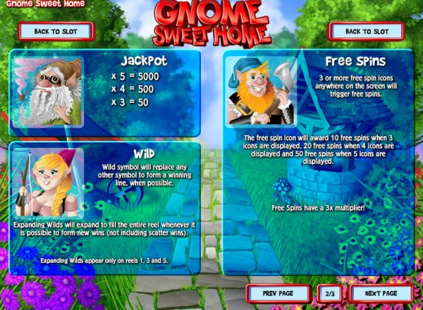 Gnome Sweet Home™ Slot Machine Game to Play Free in Rivals Online Casinos