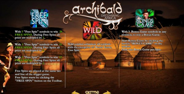 Archibald Africa Slot Machine - Play it Now for Free