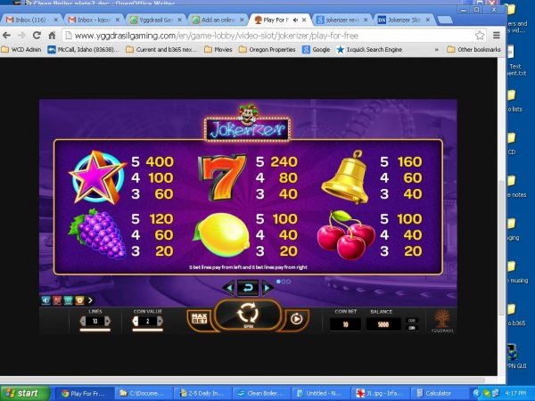 Jokerizer Slot Pays
