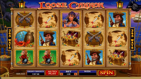 Loose Cannon Slot Game Reels
