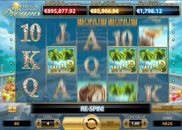 Mega Fortune Dreams Slot Game Reels
