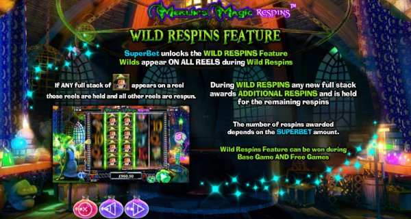 Merlins Magic Respins Dice Game - Review and Free Online Game