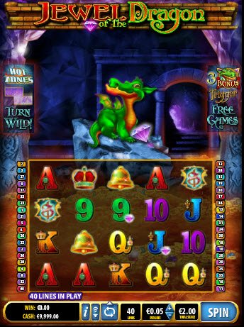 Jewel Of The Dragon Slot Game Reels
