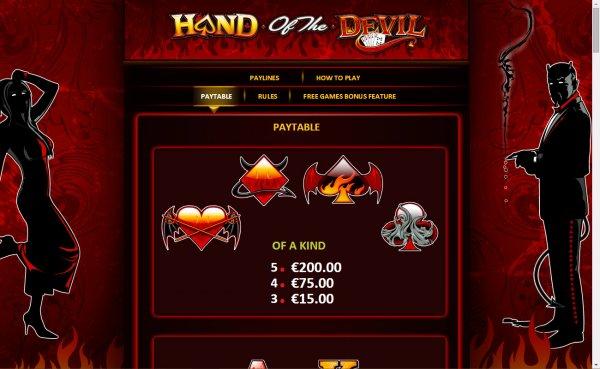 Hand Of The Devil Slot