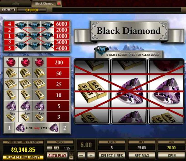 Black Diamond 5 Lines Slot - Play Online or on Mobile Now
