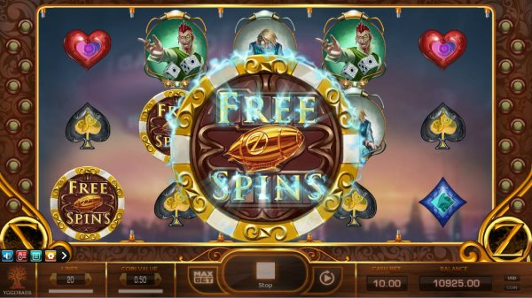 Cazino Zeppelin Slot Game Reels