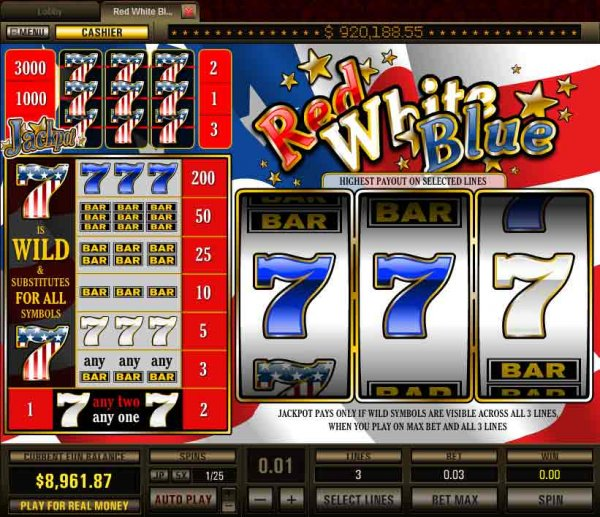 The Red White & Blue Slots - Play Online for Free Now