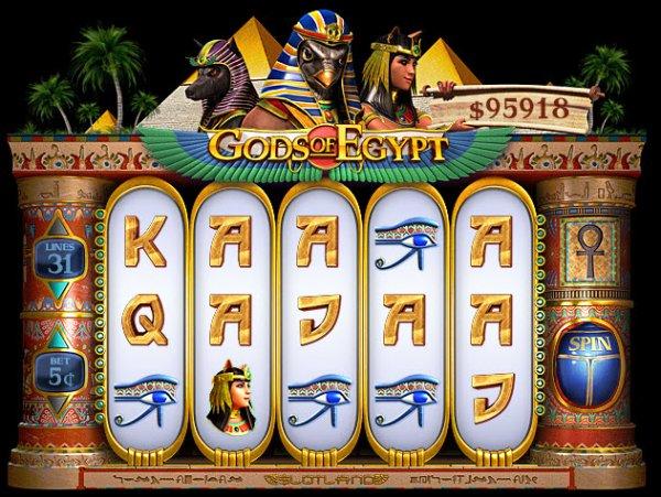 Gods Of Egypt Slot Game Reels