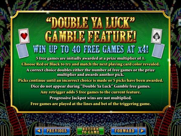 Double Ya Luck Slot Gamble Feature