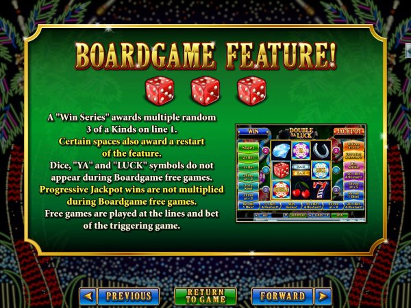 Double Ya Luck Slot Board Game Feature II