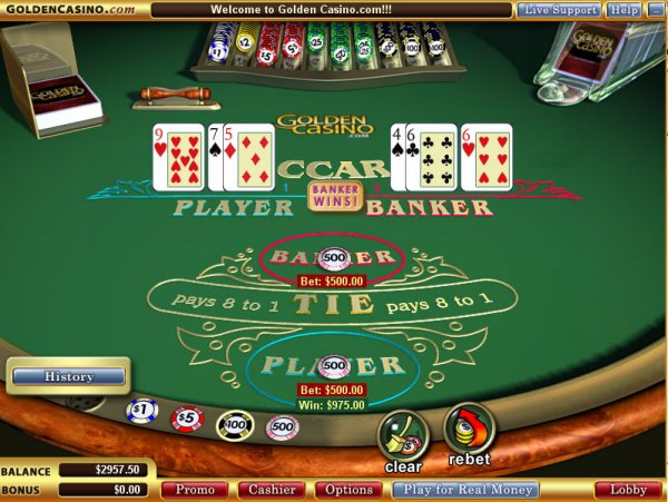 Vegas Technology software: Baccarat