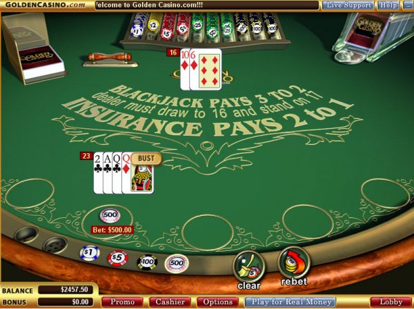 Play Blackjack Peek Online at Casino.com