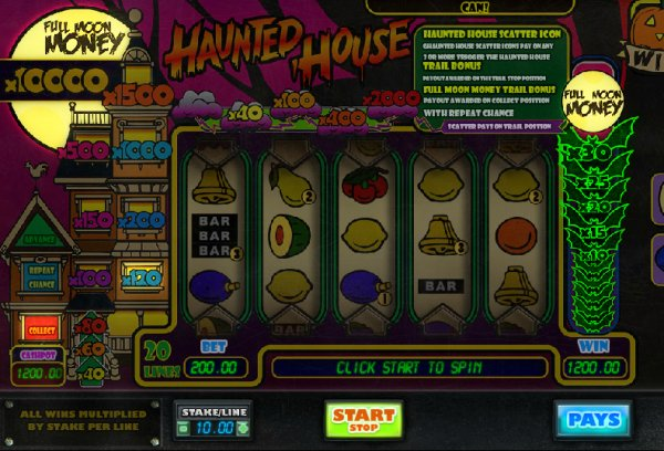 Haunted House No Download Slot Game
