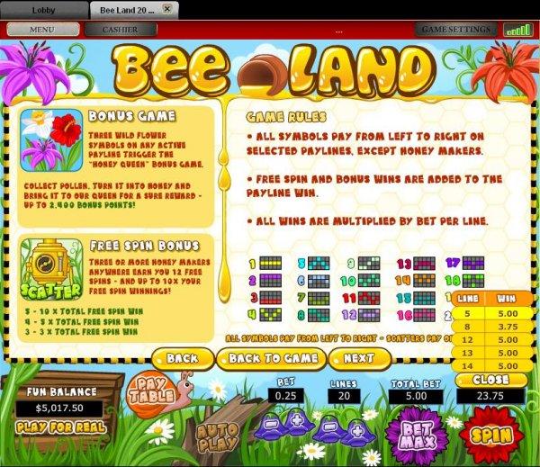 Bee Land Slots - Win Big Playing Online Casino Games