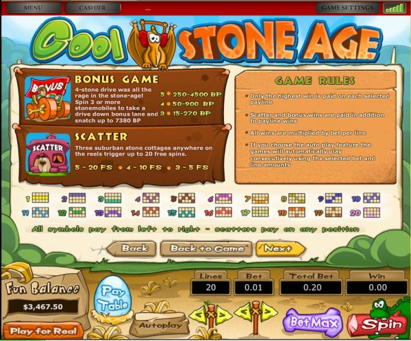 Stone Age Slots - Available Online for Free or Real