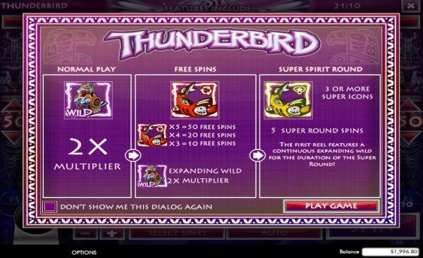 Rival GamingS New Thunderbird Slot