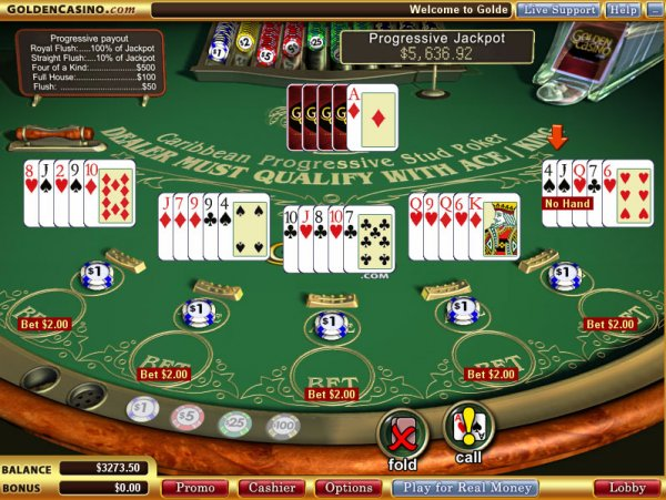 Caribbean Stud Poker - Navigation menu