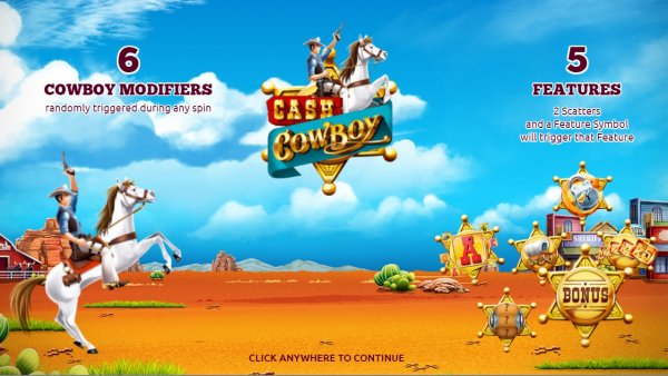 Case Blue Mmp : Cash cowboy slot by the games company