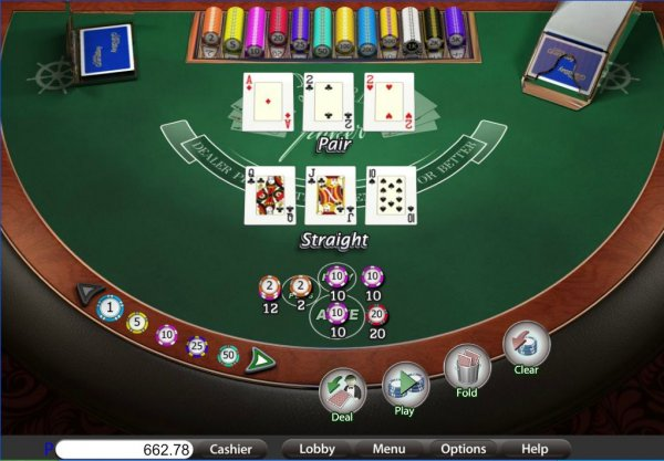 Play 3 card poker online real money
