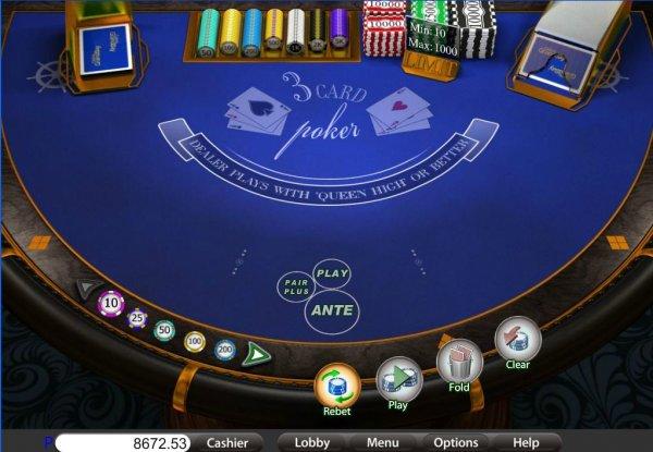 3 card poker rules raised garden