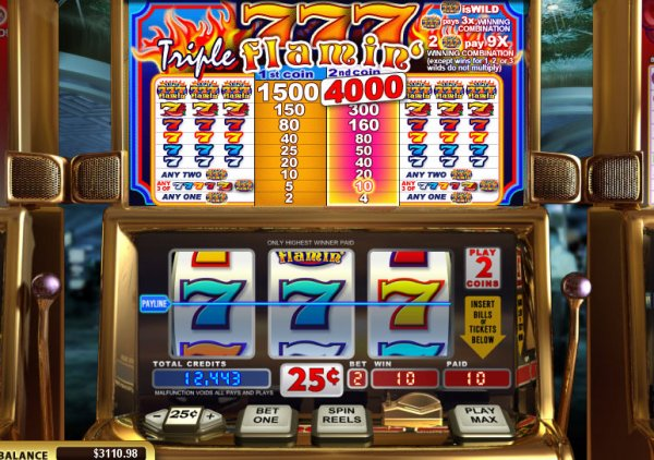 Triple Flamin' 7's video slots