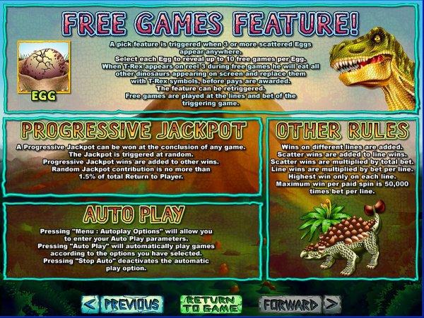 Slots of vegas t-rex
