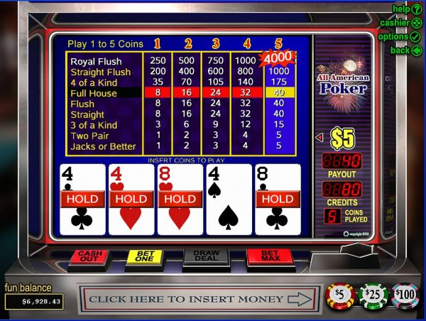 casino online games american poker