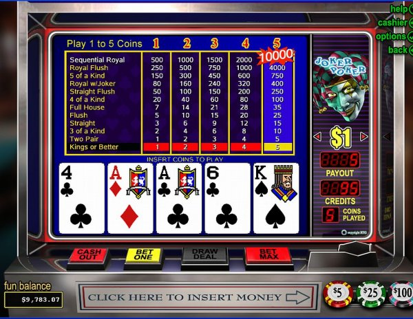 live casino online poker joker