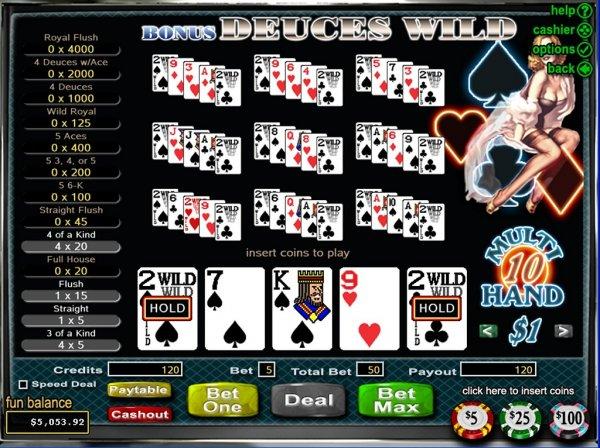 wild deuce 100 hand poker harrahs cherokee