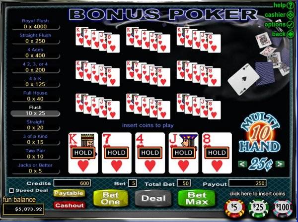 which online casino pays the best poker 4 of a kind