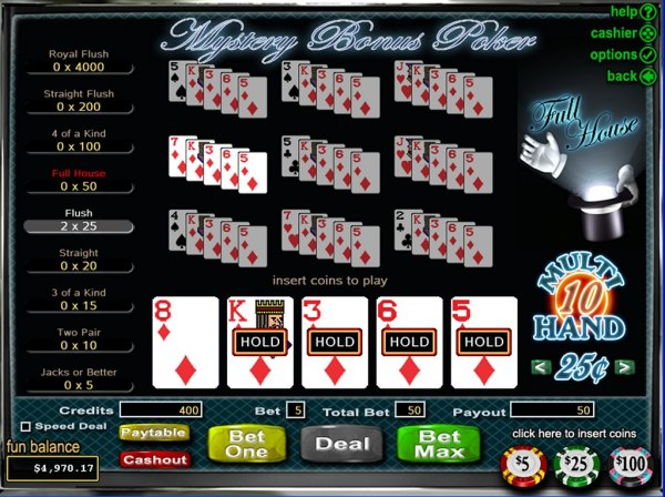 online casino games reviews poker 4 of a kind