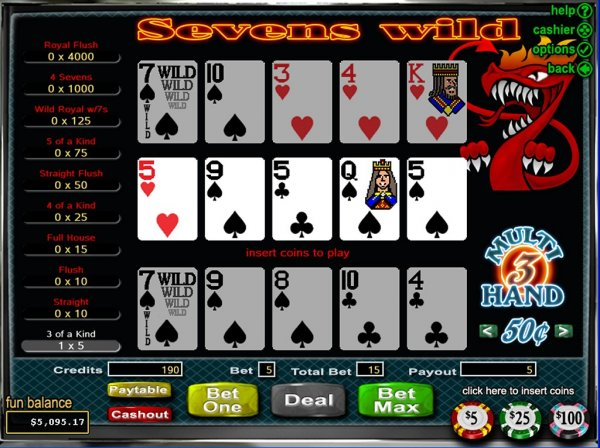 online slots poker 4 of a kind