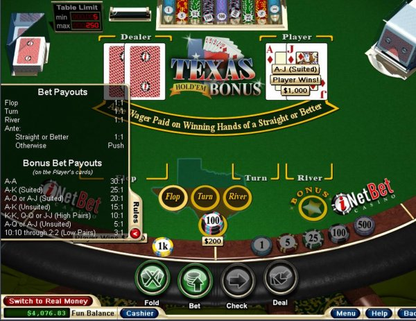 Texas hold em bonus online casino canadian casino blackjack rules