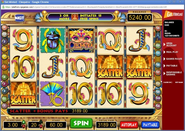 mansion online casino cleopatra bilder