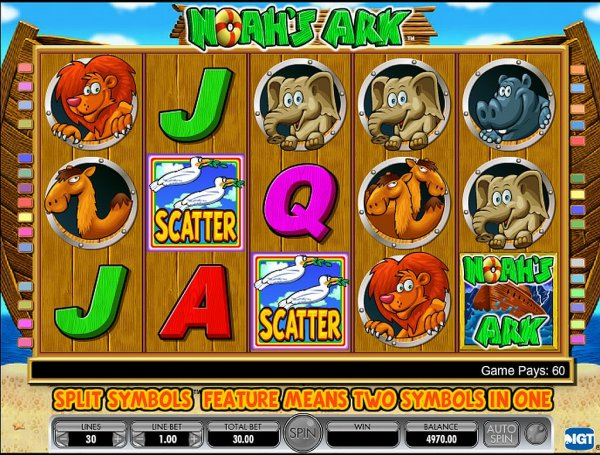 It's raining coins (alleluia) in Noah's Ark online slot