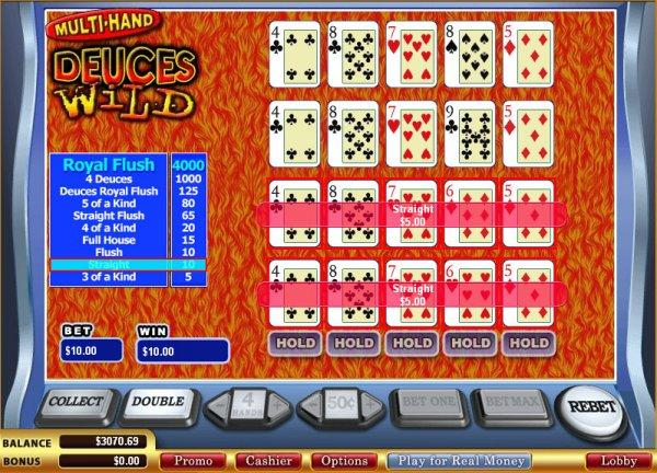 Deuces Wild Multihand - Rizk Casino