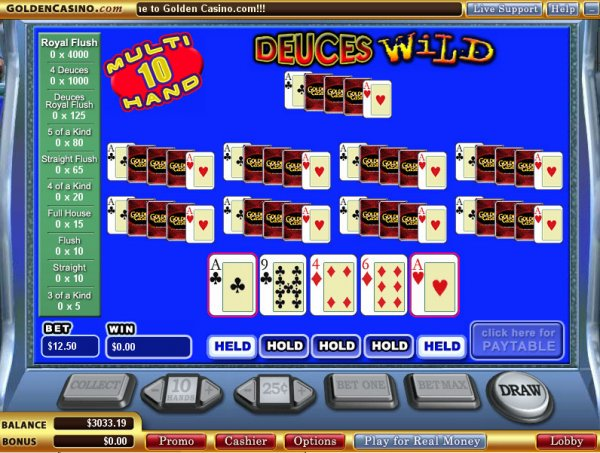 Spiele Deuces Wild - 10 Hands - Video Slots Online