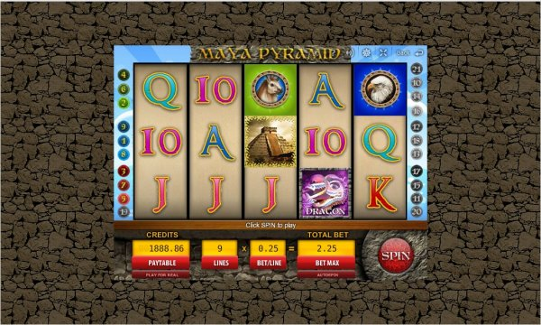Mayan pyramid slot machine