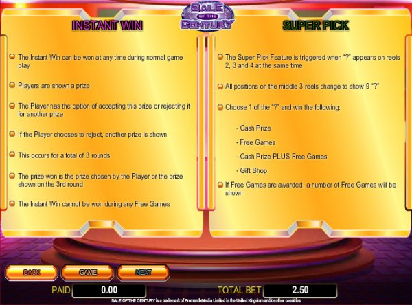 Sale of the Century Slots - Try the Online Game for Free Now
